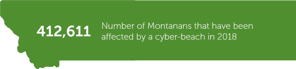 Number of Montanans affected by cyber-breaches