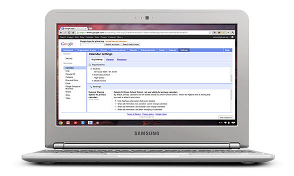 Google's chromebook classroom management console